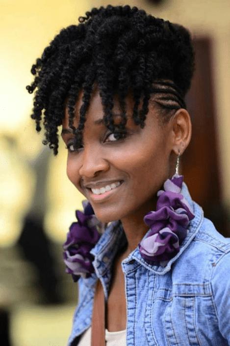 natural twists mohawk hairstyles black women